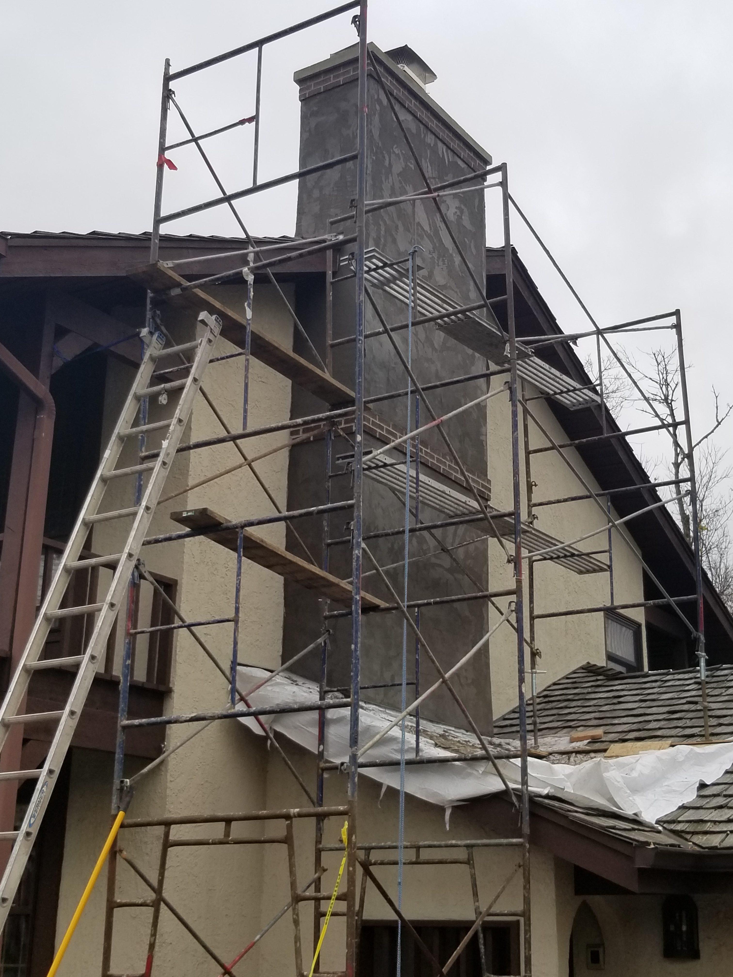 stucco chimney repair